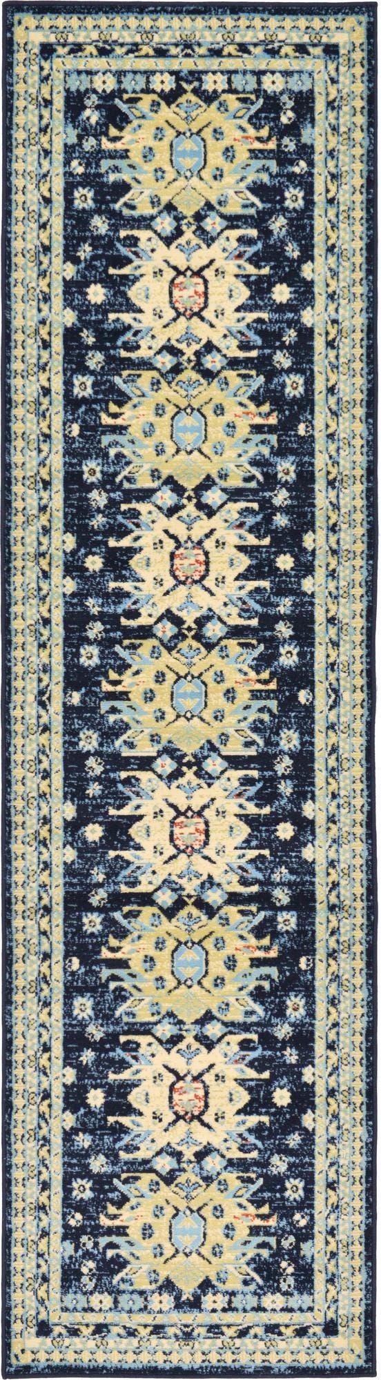 2' 7 x 10' Heriz Design Runner Rug main image