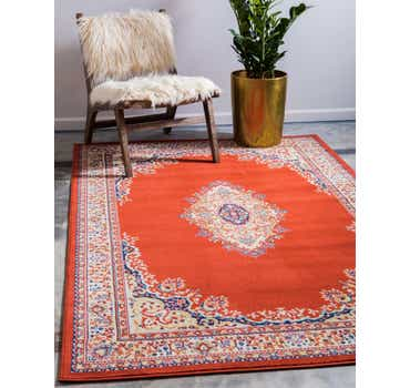 Image of 9' 10 x 13' Mashad Design Rug