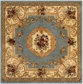 4' x 4' Classic Aubusson Square Rug thumbnail