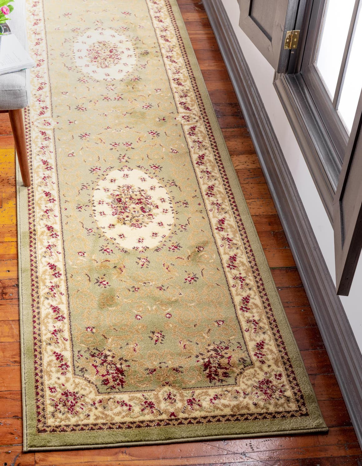 2' 7 x 10' Classic Aubusson Runner Rug main image
