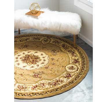 Image of  Tan Chateau Round Rug