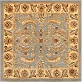 4' x 4' Classic Agra Square Rug thumbnail