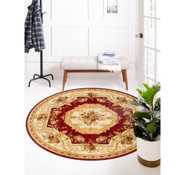 5' x 5' Classic Aubusson Round Rug main image