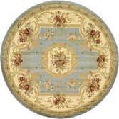 245cm x 245cm Classic Aubusson Round Rug thumbnail image 18