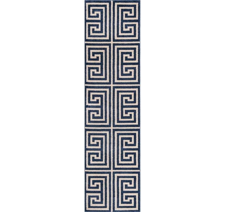 Image of 2' 7 x 10' Greek Key Runner Rug
