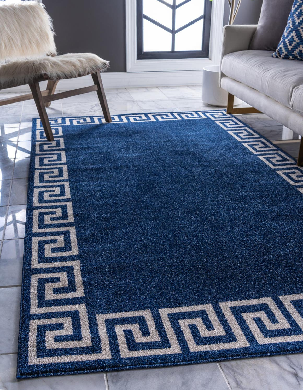 6' x 9' Greek Key Rug main image