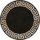 6' x 6' Greek Key Round Rug thumbnail