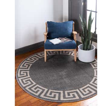 Image of 6' x 6' Greek Key Round Rug
