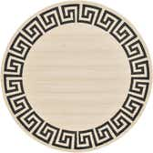 8' x 8' Greek Key Round Rug thumbnail