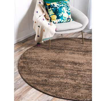Image of  Brown Angelica Round Rug
