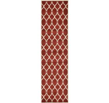 Image of  Red Lattice Runner Rug
