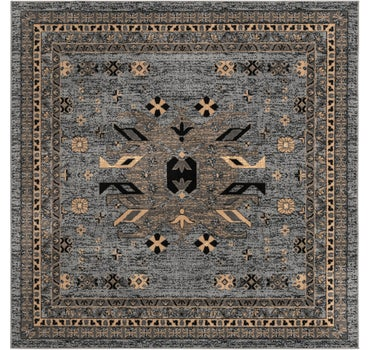 8' x 8' Heriz Design Square Rug main image