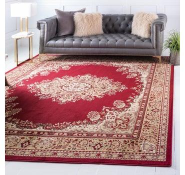 8' x 8' Mashad Design Square Rug