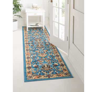 Image of 90cm x 500cm Kashan Design Runner Rug