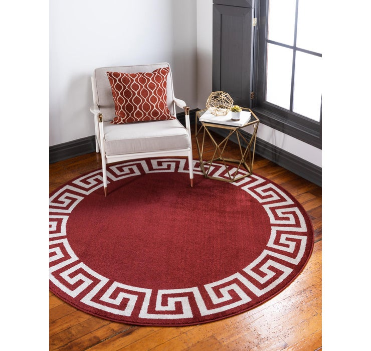 183cm x 183cm Greek Key Round Rug