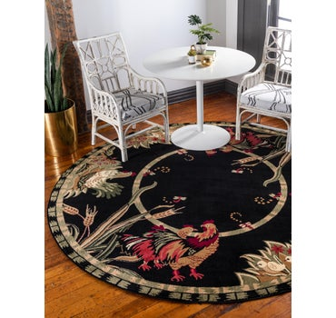8' x 8' Country Round Rug main image