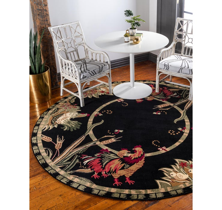 7' 10 x 7' 10 Country Round Rug