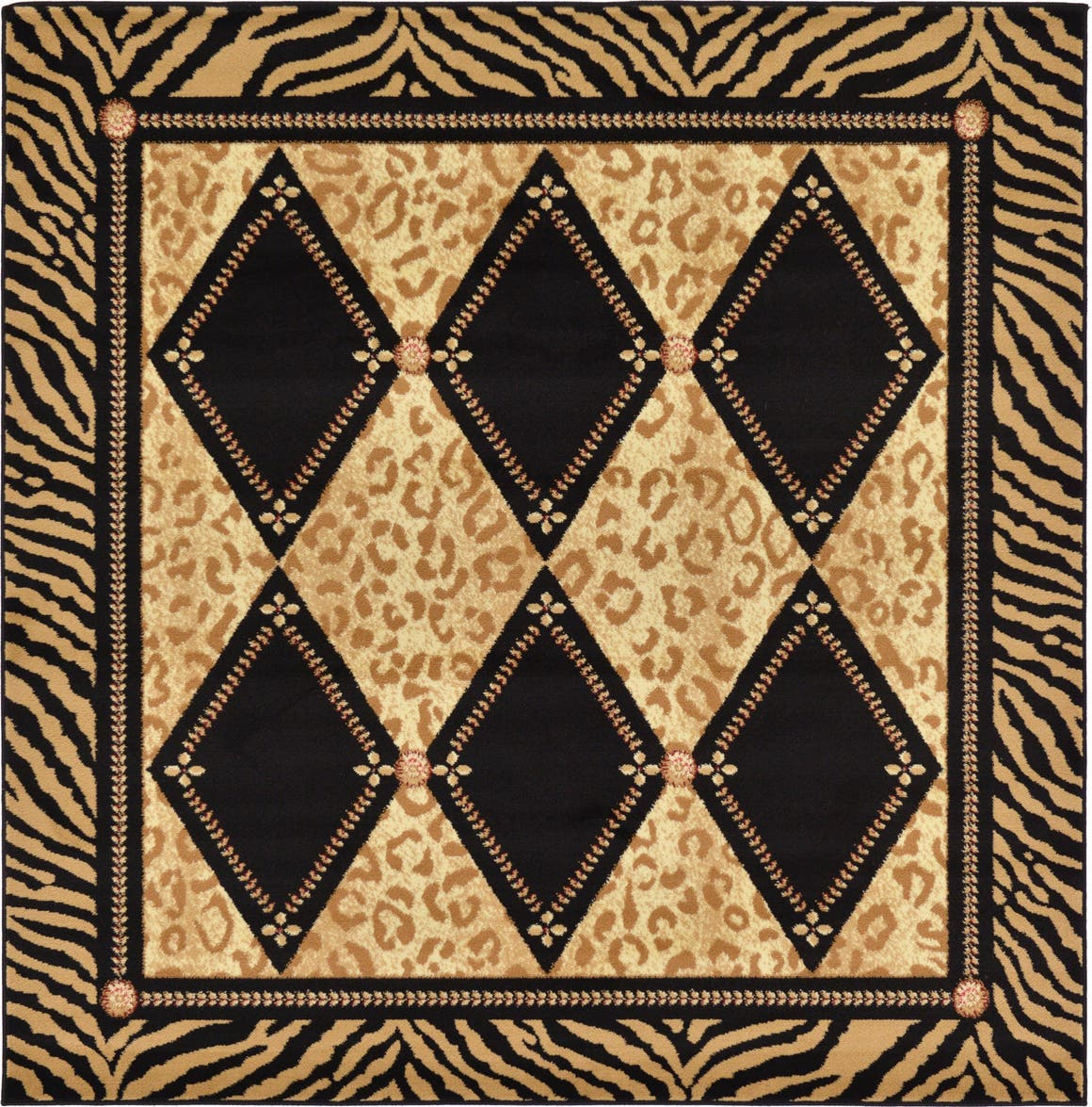 6' x 6' Safari Square Rug main image