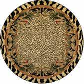 8' x 8' Safari Round Rug thumbnail