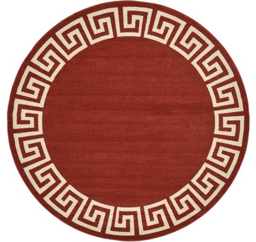 8' x 8' Greek Key Round Rug main image