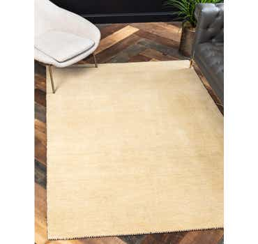 Image of 5' 3 x 7' 7 Solid Gabbeh Rug