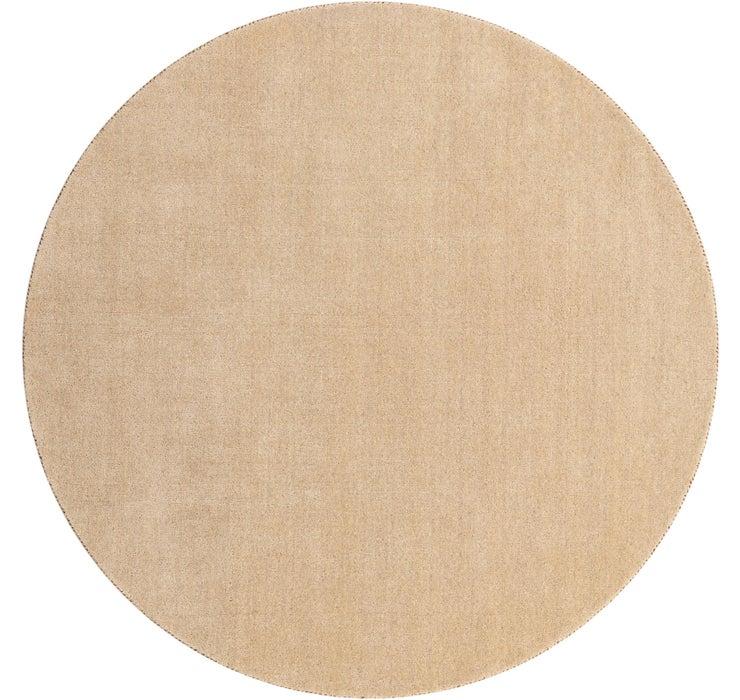 6' 7 x 6' 7 Solid Gabbeh Round Rug