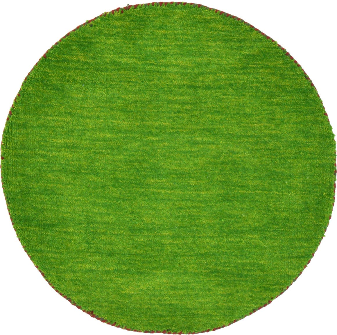 Light Green  2' 4 x 2' 4 Solid Gabbeh Round