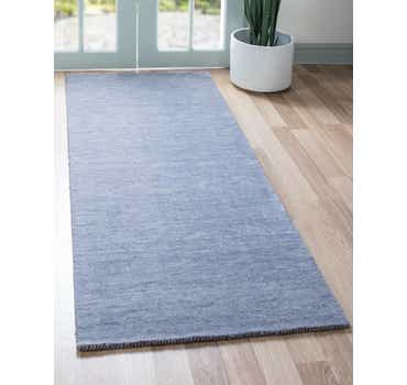 Image of 2' 7 x 6' 7 Solid Gabbeh Runner Rug