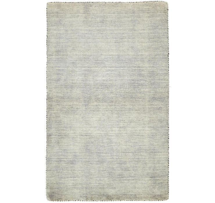 Gray Solid Gabbeh Rug