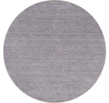 6' 7 x 6' 7 Solid Gabbeh Round Rug main image