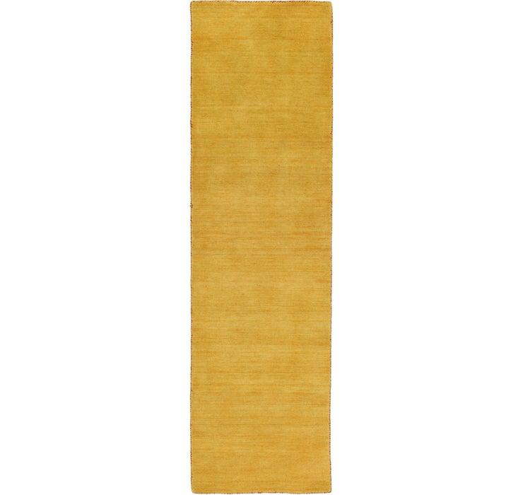 80cm x 300cm Solid Gabbeh Runner Rug