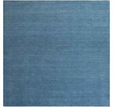 Image of  Light Blue Solid Gabbeh Square Rug