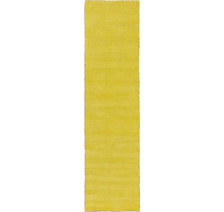 2' 7 x 9' 10 Solid Gabbeh Runner Rug