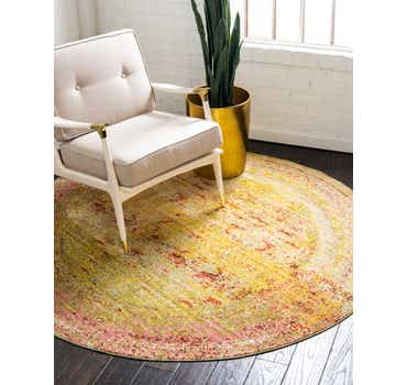 Image of  Yellow Alexis Round Rug