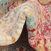183cm x 183cm Aqua Round Rug thumbnail