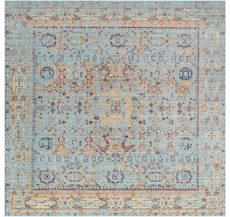 245cm x 245cm Aqua Square Rug