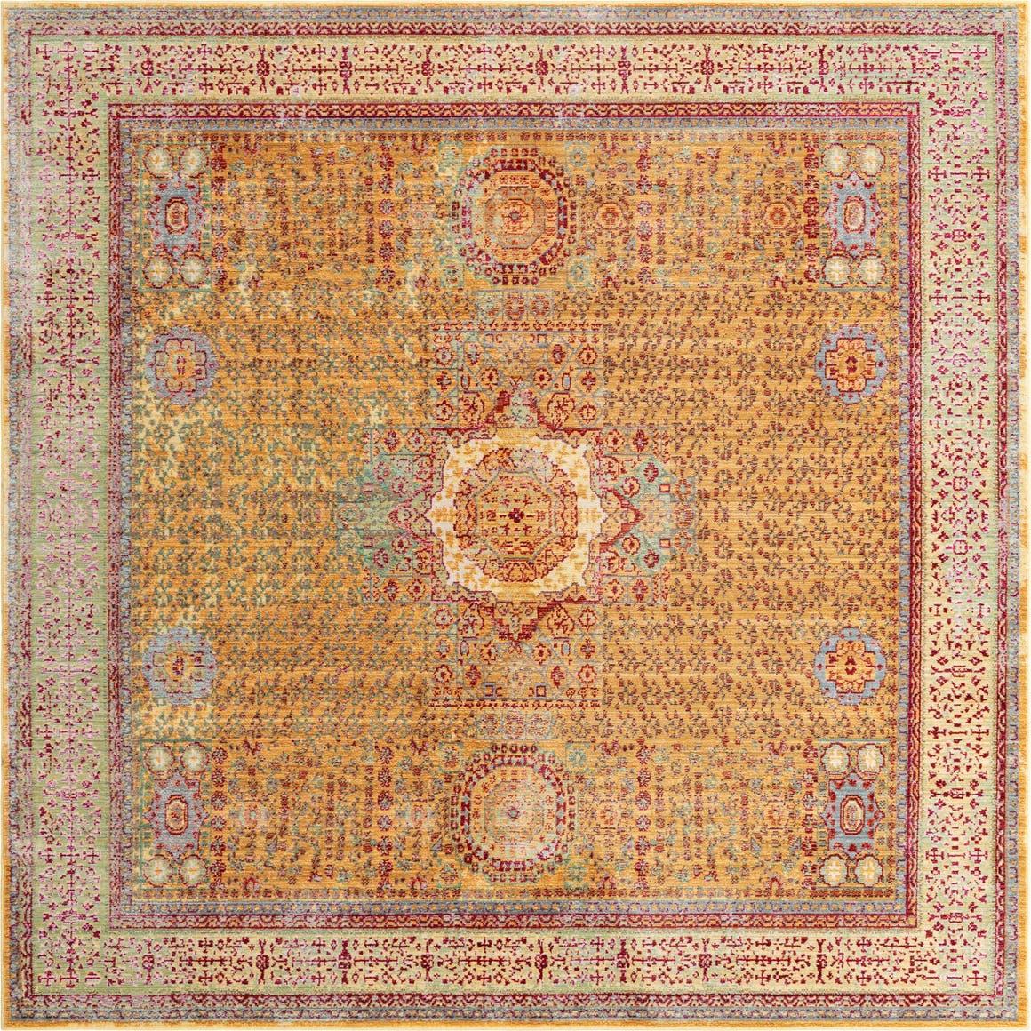 8' x 8' Aqua Square Rug main image