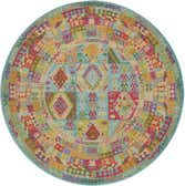 8' x 8' Santa Fe Round Rug thumbnail