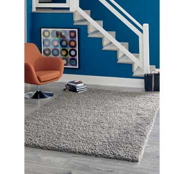 Cloud Gray Solid Shag Rug