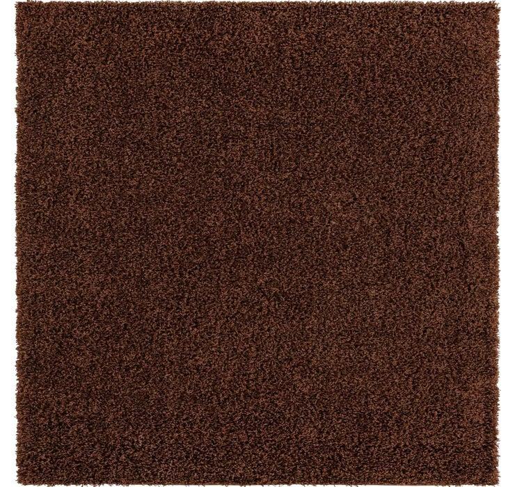8' x 8' Solid Shag Square Rug