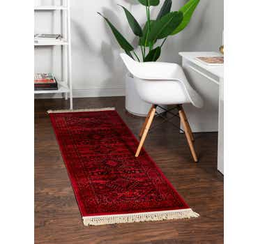 Image of  Red Bokhara Runner Rug