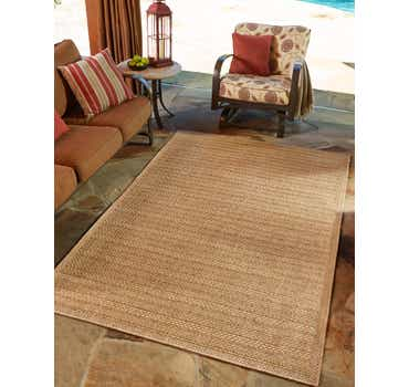 Image of 2' 2 x 3' Outdoor Border Rug