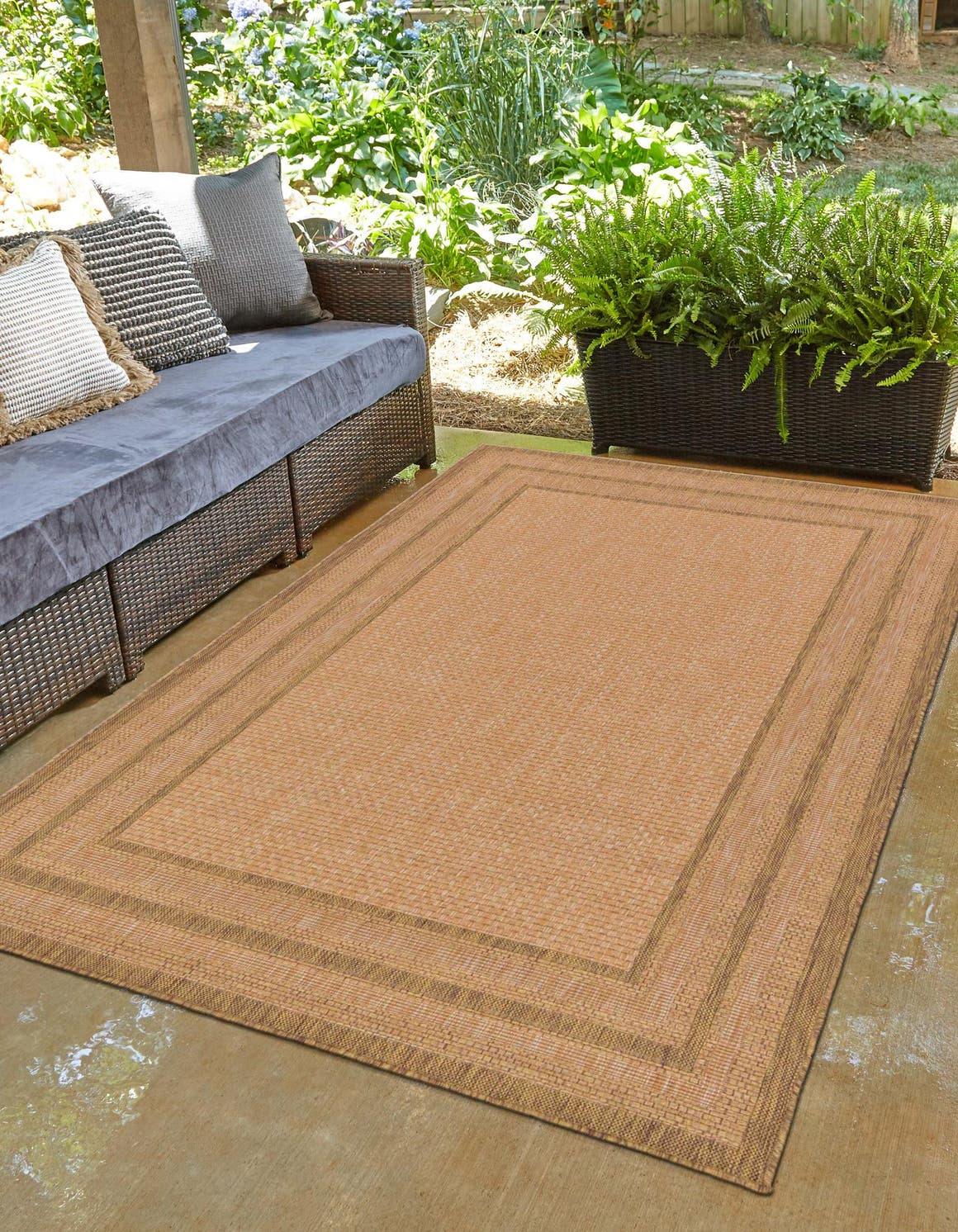 Light Brown  5' 3 x 8' Outdoor Border