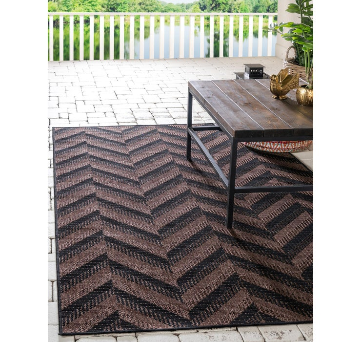 Image of 8' x 11' 4 Outdoor Modern Rug
