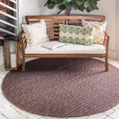 6' x 6' Outdoor Modern Round Rug thumbnail