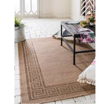 Light Brown Outdoor Border Rug