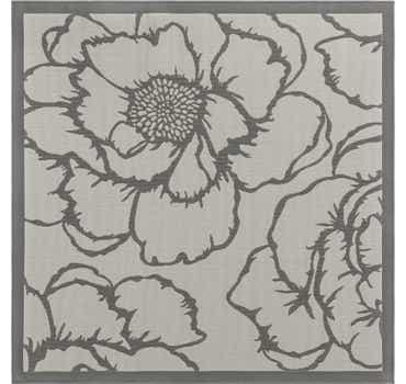 Gray Outdoor Botanical Squar...