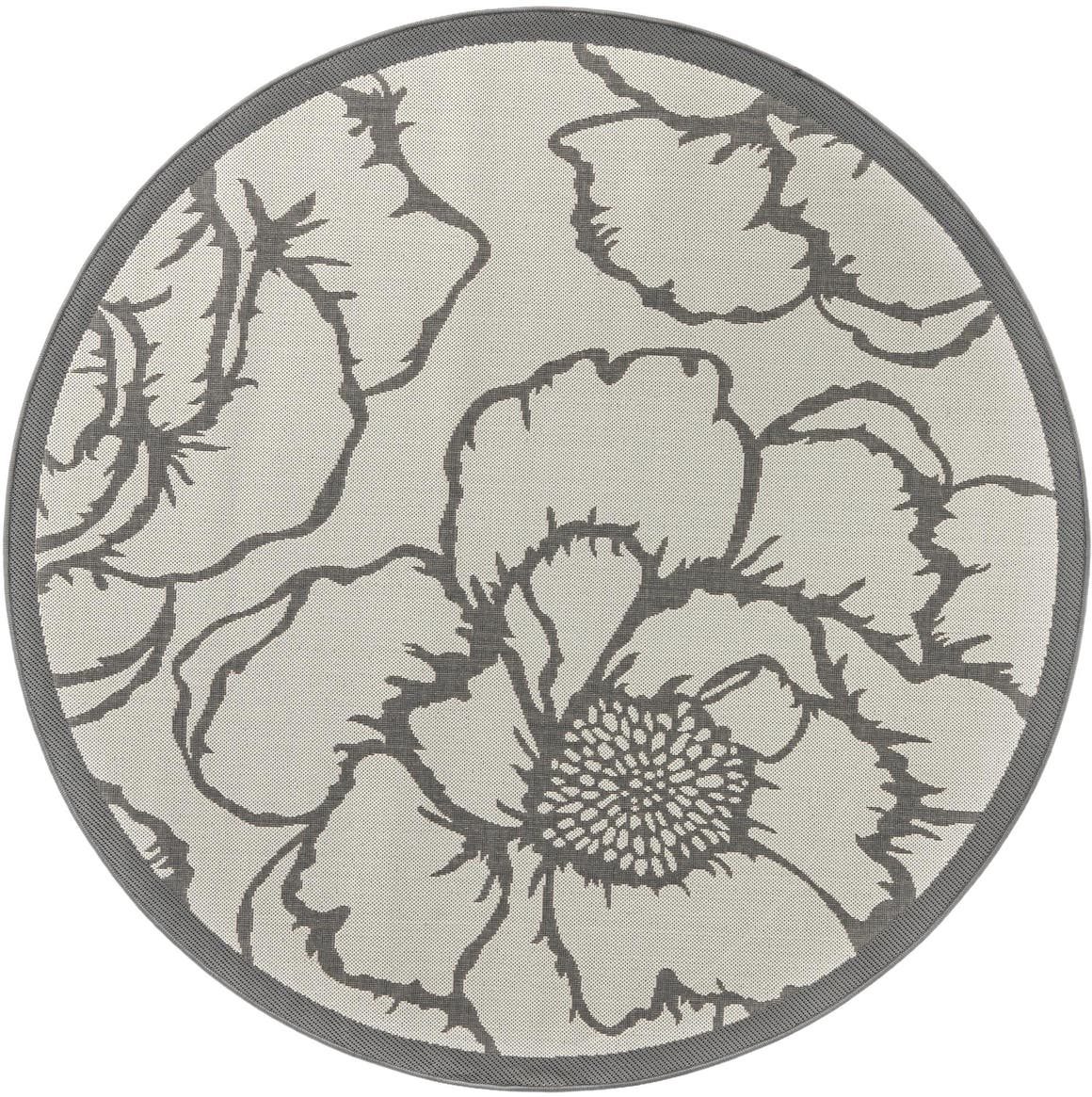 6' x 6' Outdoor Botanical Round Rug main image