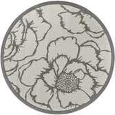 183cm x 183cm Outdoor Botanical Round Rug thumbnail