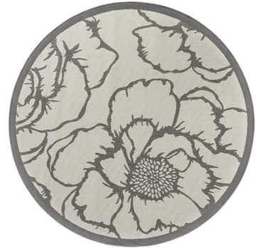 Image of 6' x 6' Outdoor Botanical Round...